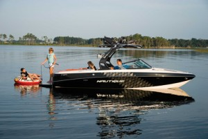 With its stern platform, the Crossover 216V has an overall length of 23 feet, 2 inches.
