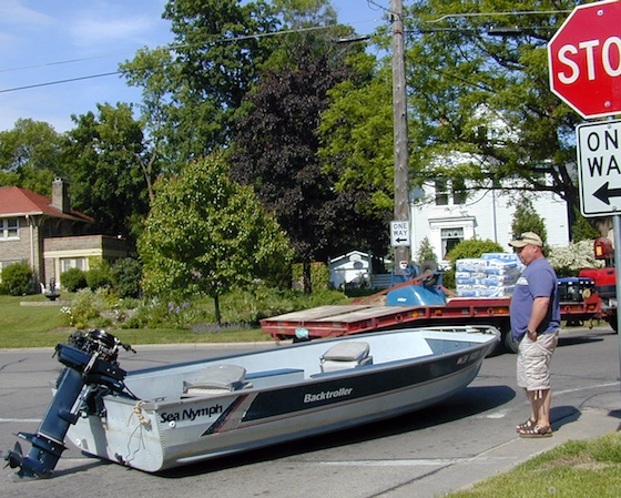 Before you can go boating, you've got to make it to the water. A series of mistakes has left this angler high and dry.