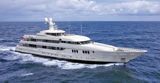 The Feadship Trident is making her boatshow debut.