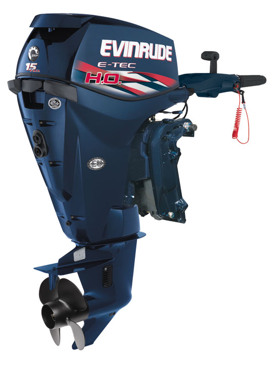 Its weight and spec make the Evinrude E-TEC 15 HO best-suited to trolling duty alongside a larger main engine, or perhaps powering a small pontoon boat.