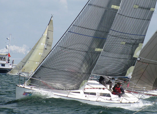 The Hobie 33 can be raced under PHRF or as part of the still-strong one design class.