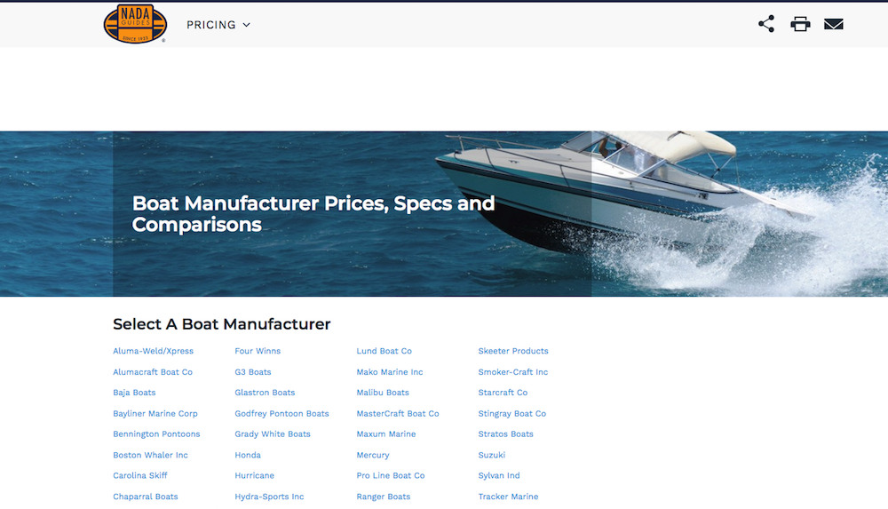 boat prices with nada guides boats com rh boats com used boat pricing guide kbb used pontoon boat pricing guide