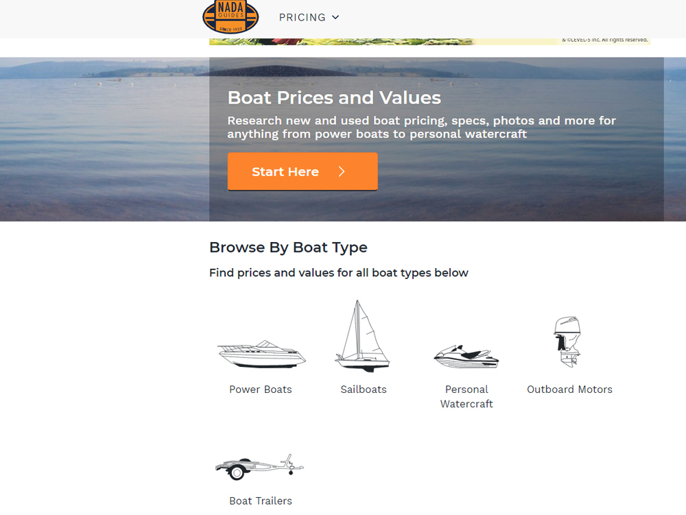 boat prices with nada guides boats com rh boats com Pricing Guide Template used boat pricing guide canada