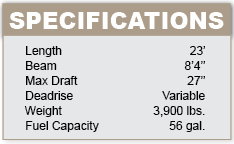 Malibu 23 Ride specifications
