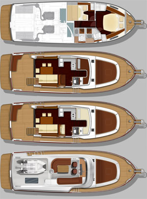Swift Trawler 44 layout