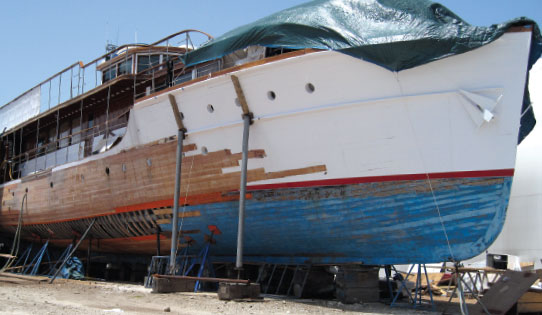 Royal Refit for the Yacht of Camelot