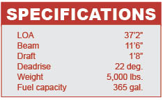 Midnight Express 37 specifications