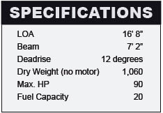 Crestliner 1650 Fish Hawk specifications