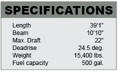 Contender 39 ST specifications