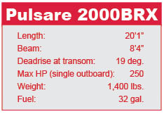 Pulsare 2000 BRX specifications