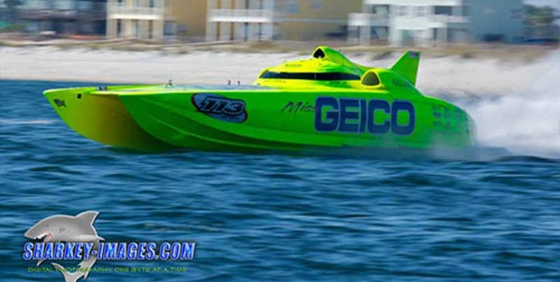 The 50-foot Mystic Miss Geico