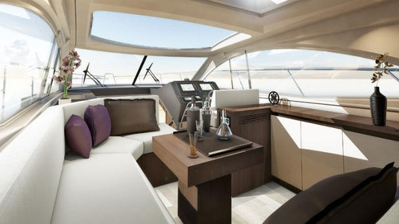 cabin and salon in beneteau 49 fly