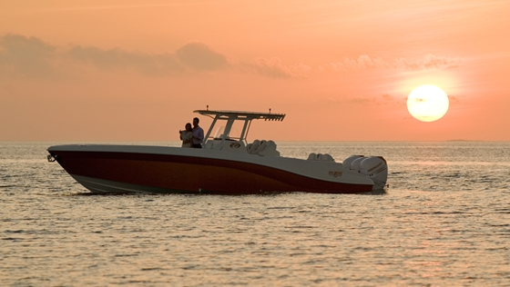 Deep Impact's center console offering; 36-footer shown here