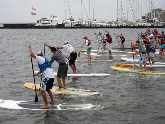 Eastport YC SUP race