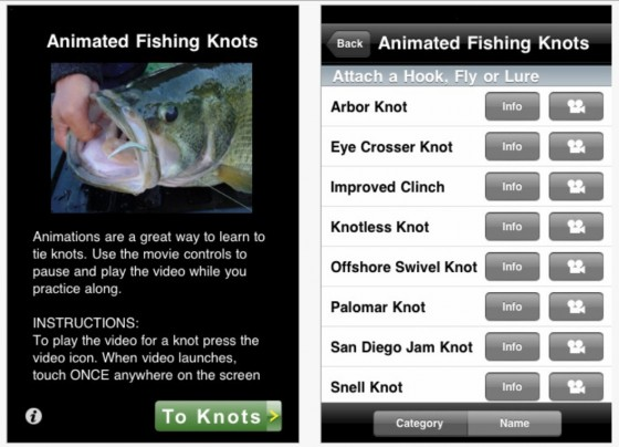 Five fishing apps for your smartphone for Fishing knots apps