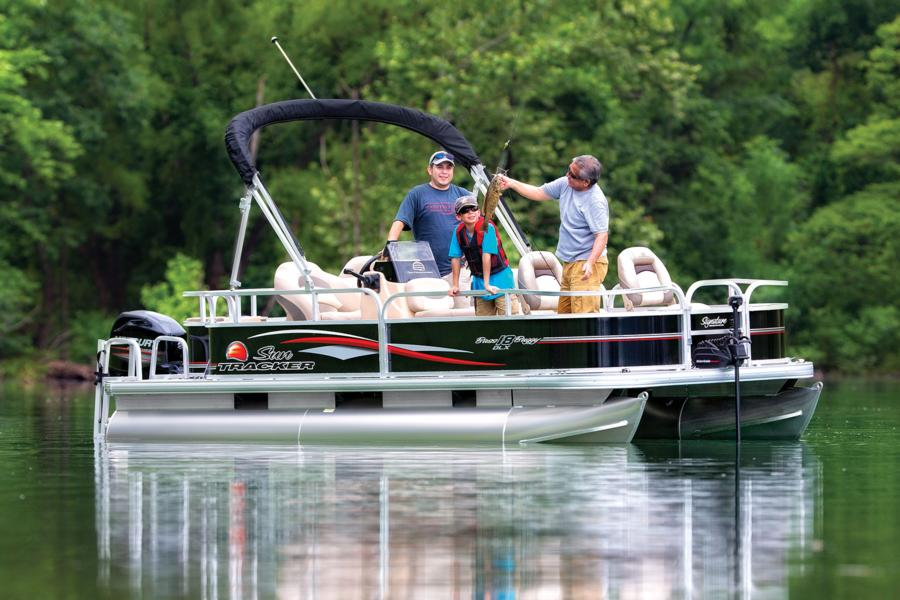 Pontoon boaters who fish hard but want to pay less—a lot less—should check out the Bass Buggy.