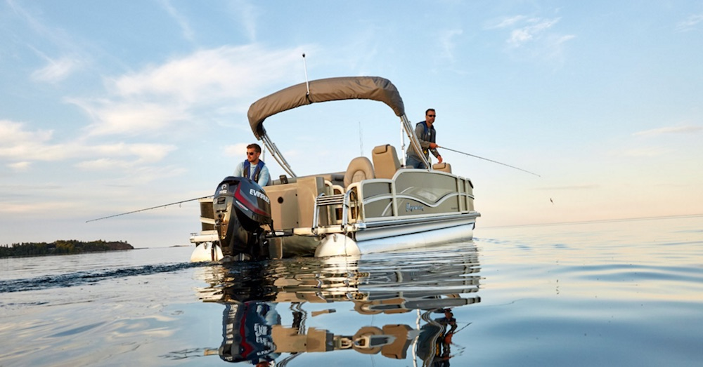 premier pontoon boats The Cast-a-Way will hook anglers looking for pontoons of a fishier nature.