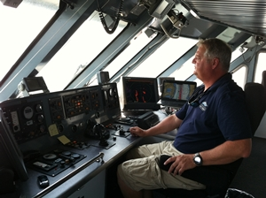 bessinger at helm of fast ferry