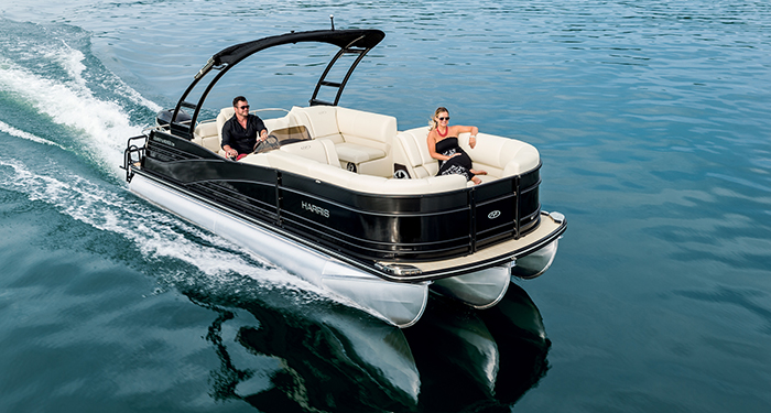 It's as luxurious as it looks, but you won't experience the true nature of the Harris Grand Mariner until you firewall the throttle and go for a thrill ride.