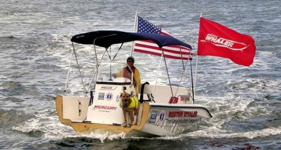 boston whaler in half