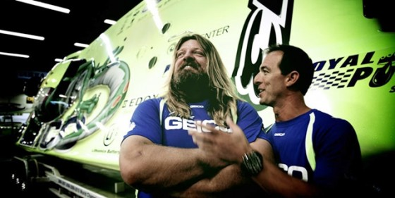 Miss GEICO driver Marc Granet (right) with throttleman Scott Begovich.