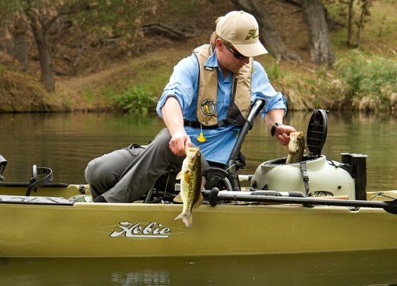 hobie bass fishing kayak