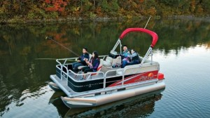 sun tracker bass boat pontoon