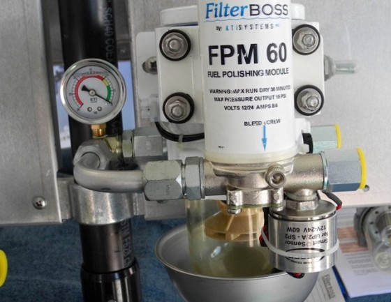 Fuel polishing system