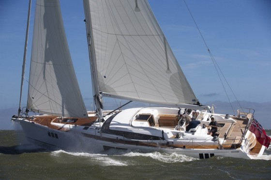 The Gunfleet 58, one of five nominees in the Luxury Cruiser category. R. Langdon, YACHT