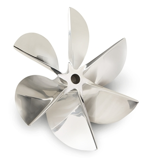 Hering offers forged or cast propellers with as many as six blades.