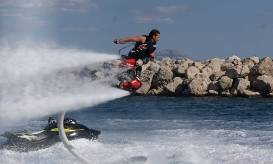 flyboard jet in air