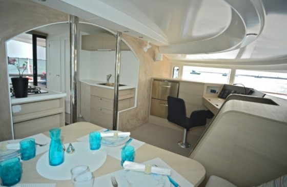 neel 45 sailboat cabin