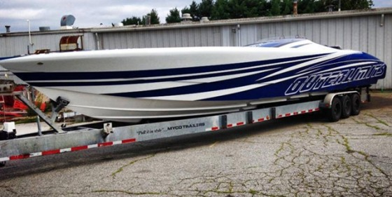 This 52-footer is the first V-bottom to be outfitted with Mercury Racing 1650 Race engines.