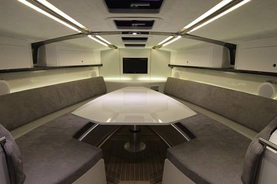 The dining area converts to a large berth.
