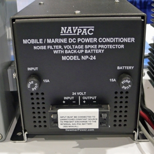 An uninterruptible power supply like this one can even out voltage drops and spikes.