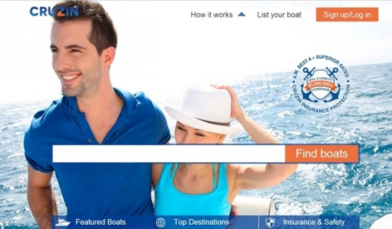 "Cruzin.com calls itself ""America's first fully-insured boater-to-boater rental and charter marketplace."""