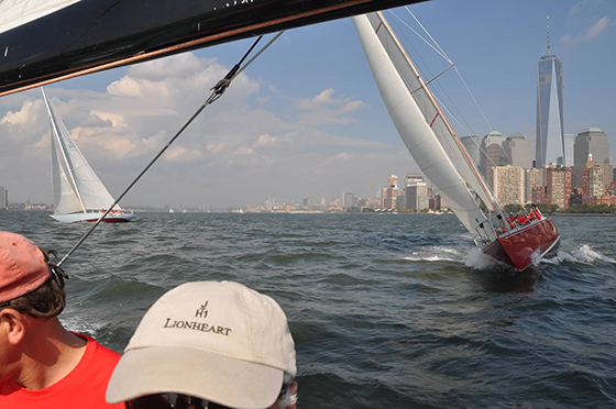 12-Meter Intrepid leading 12-Meter American Eagle
