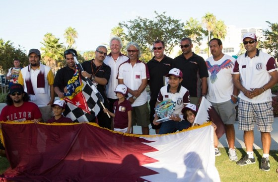 Shown celebrating their victory at the SBI Nationals in Clearwater, Fla., the Qatar team will have a third boat ready to go for the SBI Offshore World Championships in Key West.