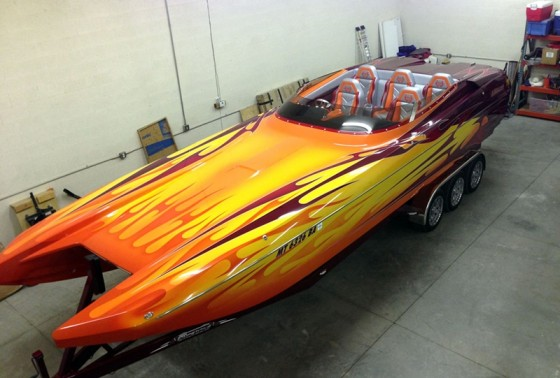 John Heieie's 28 Speedster from Eliminator Boats reached a top speed of 174 mph on Arizona's Roosevelt Lake.