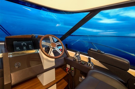 volvo penta glass bridge on tiara 50 coupe