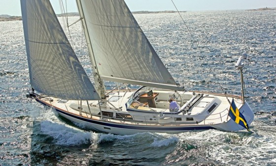 The Hallberg-Rassy 55 is a center-cockpit cruising thoroughbred, built for serious voyaging.