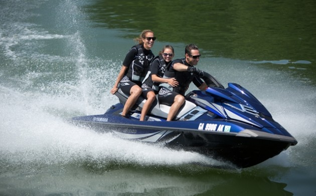 Fun and fast, the new WaveRunner FX SVHO has room for three and uncompromising performance.