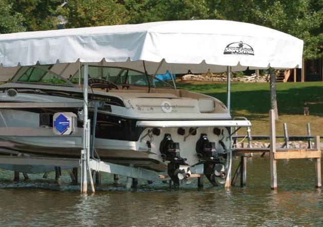 The Best Boat Lift: Shore Station vs  HydroHoist vs