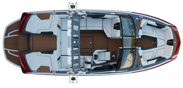 An overhead view of the Super Air Nautique G21.