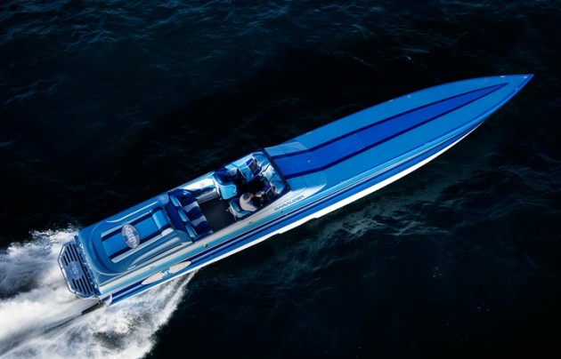 Leading Cigarette's sportboat sales is the 50' Marauder.