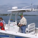 2014 Everglades 243 center console powerboat for fishing