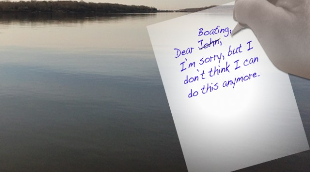 Dear John to boating letter