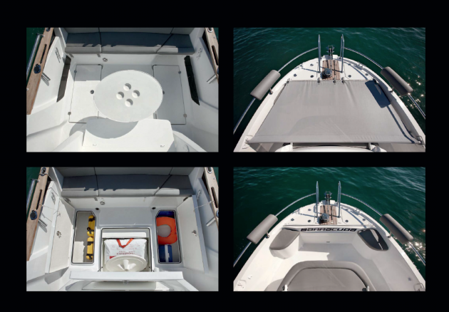 There's a lot of on-deck versatility built into the Barracuda 7.