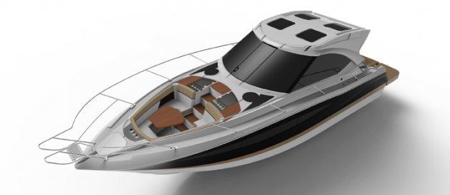 The Four Winns H440 blends express boat styling with the outside fun of a bowrider.