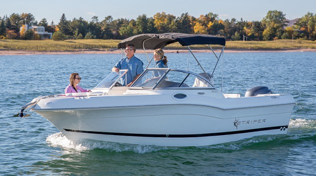 The Striper 200 DC is built on the same hull as the company's 200 center console model.